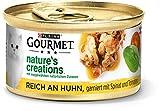 PURINA GOURMET Nature's Creation Katzennassfutter in Gelee naturbelassen, Huhn, 12er Pack (12 x 85g)