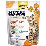 GimCat Nutri Pockets - Knuspriger Katzensnack mit cremiger Füllung und funktionalen Inhaltsstoffen - 1 Beutel