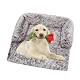 Vinnykud Couchkissen für Hunde Rectangle Hundebett Flauschige Hundedecke Plüsch Hundematte Grosse Hundesofa Wasserfeste Unterseite Sofaschutz mit Reißverschluss Katzenbett Waschbar Kofferraumschutz