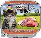 Mac's Katzenfutter getreidefrei Kitten Pute, Ente, Rind, 85 g