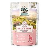 Wildes Land - Adult Kalb & Ente - 12 x 100 g - Nassfutter - Hundefutter