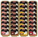 animonda Vom Feinsten Adult Katzenfutter, Nassfutter für ausgewachsene Katzen, Fleisch Vielfalt mit Geflügel, 32 x 100 g