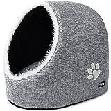 PetPäl Katzenhöhle - DIE Perfekte Kuschelhöhle für Katzen, Kitten, kleine Hunde & Welpen - Ideale Korb Höhle für Drinnen - Weicher und bequemer Schlafplatz, Katzenkorb, Katzenbettchen zum Schlafen