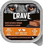 Crave Grainfree Getreidefreies Hundefutter Nassfutter Adult 1+ Mit Huhn & Truthahn in Pastete, 1 Schale (1 x 300g)