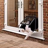 PETLESO Haustierklappe für Fliegengitter Hundeklappe mit Magneten Katzenklappe Fliegengittertür Einfache Installation für Katzen/Hunde (35cm x 45.5cm)